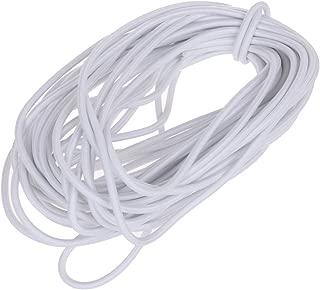 Usew 1/8-Inch (3mm) White Heavy Stretch Round String Elastic Cord (Cut of 10 Yards)
