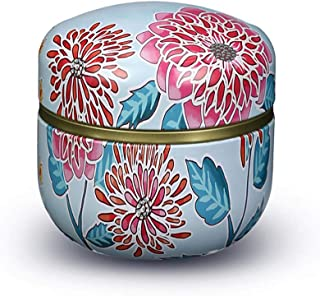 Mini Funeral Urn, Cremation Urns, Adults Children Pet Urn, Iron Art with Lid Creative Painted Memorial Weng Used in Funeral Or Crematorium (Color : A, Size : 8.5cm9cm)