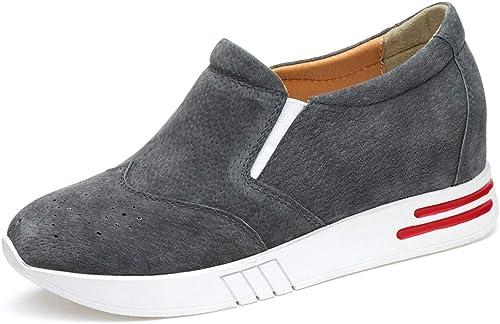 ZHRUI ZHRUI ZHRUI Chaussures à Semelles compensées pour Femmes (Couleuré   gris, Taille   7 UK) 59c