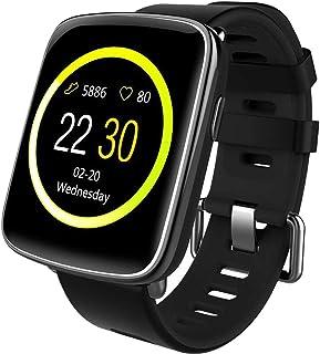 Willful Smartwatch con Pulsómetro,Impermeable IP68 Reloj Inteligente con Cronómetro, Monitor de sueño,Podómetro,Calendario...