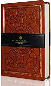 VICTORIA'S JOURNALS Vintage Leatherette Journal Hard Cover