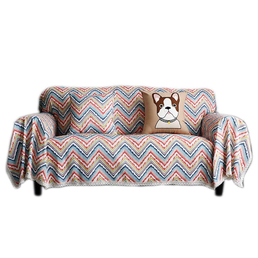HM&DX Funda para Sofá Cubre Sofá Decorativo,patrón De Popo Colorido Cubierta del Sofá,algodón Poliéster Cubre Sofá,Polvo Muebles Protector A Almohada 18x18in: Amazon.es: Hogar