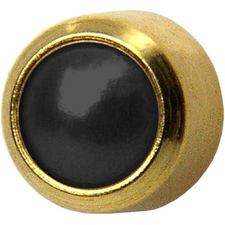 Studex Ear Piercing Gold Plated Black Onyx Stud Earrings 4mm Bezel Setting