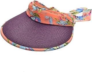 Sombrero de paja plegable vacía Sun Beach sombrero de verano brimmed grande UV ciclismo al aire libre