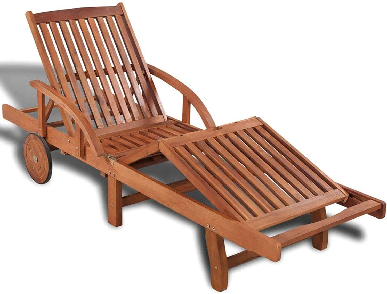 VidaXL Solid Acacia Wood Sunlounger 200x68x83cm Outdoor Bed Reclining Chair