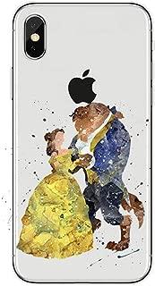 Phone Case Beauty Beast Rose Princess Soft Clear Phone Case Coque Fundas for Iphone 7 7Plus 6 6S 6Plus 5 5S Se 8 Xs Max X
