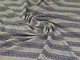 Gewebter Tweed-Beschichtungsstoff, blau, cremefarben,