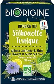 BiOrigine – Infusion bio Silhouette Tonique – Maté – Ingrédients d'origine naturelle – Fabriqué en France – 20 sachets