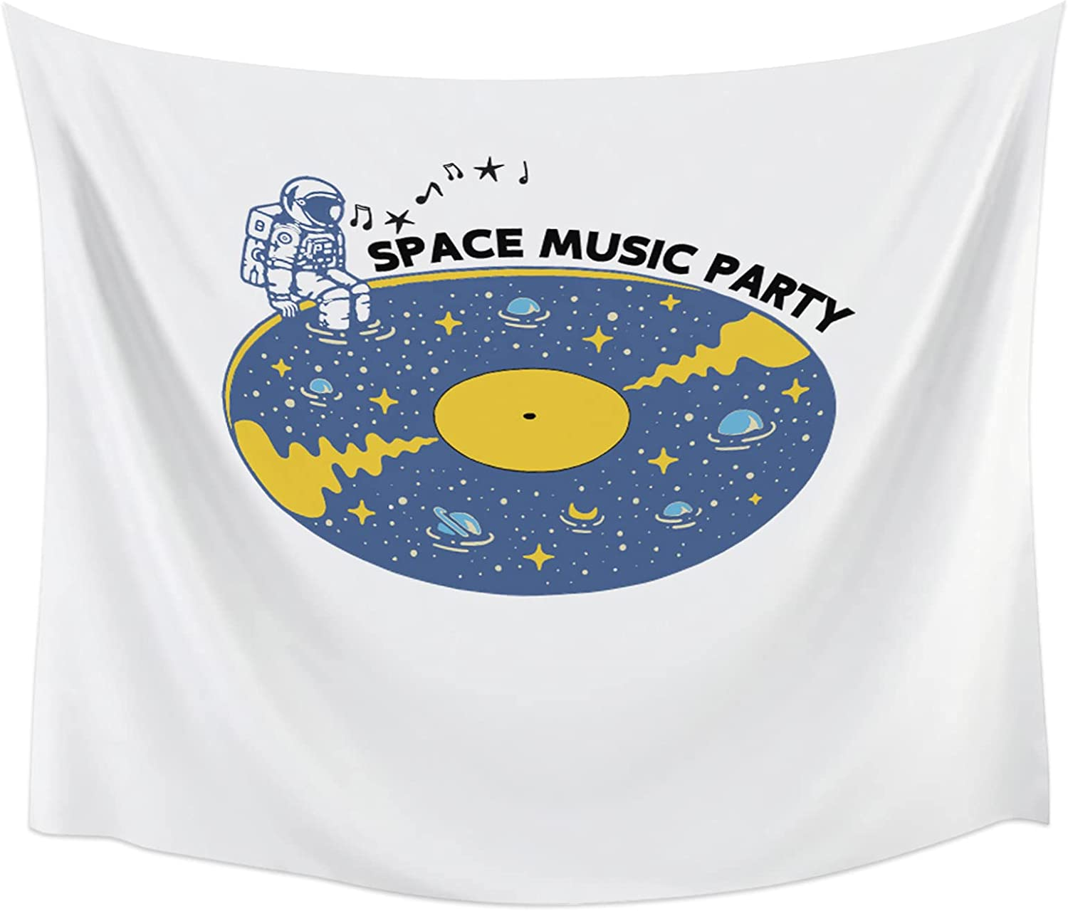 Tapestry Wrinkle Proof Wall Hanging Space Music Party Limited Special Baltimore Mall Price A