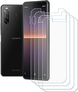 TTJ 4 stycken skottsäkert glas skyddsfolie för Sony Xperia 10 II, 9H hårdhet härdat glas pansarglasfilm anti-rep/anti-fing...