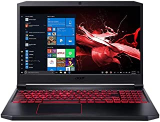 """Acer Nitro 7 AN715-51-73BU Gaming and Entertainment Laptop (Intel i7-9750H 6-Core, 32GB RAM, 256GB m.2 SATA SSD, 15.6"""" Full HD (1920x1080), GTX 1650, Wifi, Bluetooth, Webcam, Win 10 Home)"""