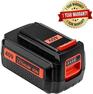 40 Volt 2.5Ah LBXR2036 Replace for Black and Decker 40V Lithium Battery Max LBX2036 LBXR36 LBX36 LBX2040 LST540 LCS1240 LBX1540 LST136W Cordless Power Tools