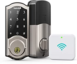 Smart Deadbolt Locks with Keypad - Keyless Entry Digital Front Door Lock with Gateway, Wi-Fi Electronic Bluetooth Auto Loc...