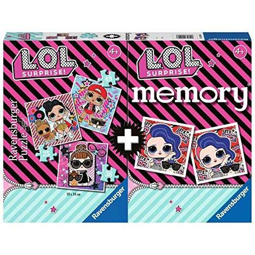 Ravensburger - Multipack Memory + 3 Puzzle LOL (20549) - Farbe/Modell Sortiert
