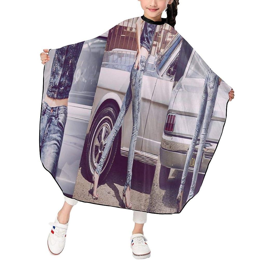 雑品検査官シャイ最新の人気ヘアカットエプロン 子供用ヘアカットエプロン120×100cm ケンドールジェナーKendall Jenner 柔らかく、軽量で、繊細なポリエステル生地、肌にやさしい、ドライ