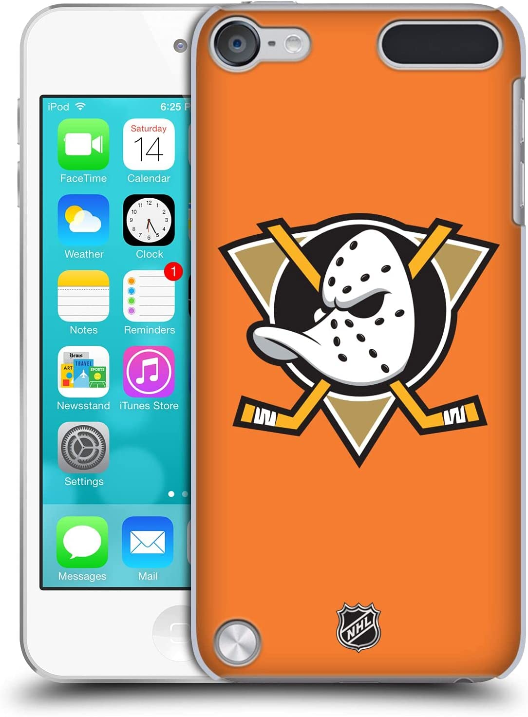 Head Case Designs Officially Licensed NHL Plain Anaheim Ducks Hard Back Case Compatible with Apple iPod Touch 5G 5th Gen