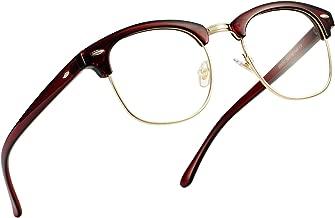 Pro Acme Retro Semi Rimless Clear Lens Glasses Classic Vintage Unisex Eyeglasses