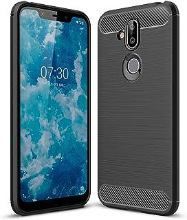Nokia 8.1 case, PUSHIMEI Soft TPU Brushed Anti-Fingerprint Full-Body Protective Phone Case Cover for Nokia 8.1 Black Nokia 8.1