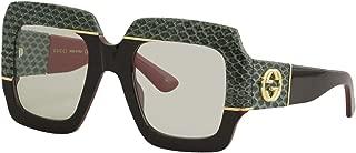 Gucci GG0484S SNAKE FANTASY 54/25/140 women Sunglasses, Black / Green / Black