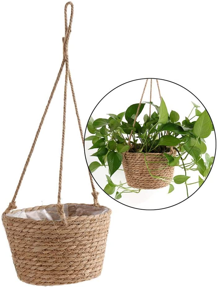 SEFEI Hanging Planters with Planter Basket Woven San Diego Mall F Detroit Mall Storage Hand