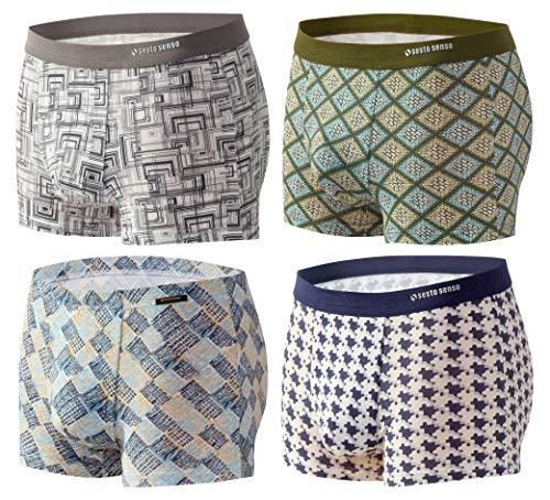 Sesto Senso® Heren Boxershorts Microvezel met motief 1- / 2- / 4-pack Micro Modal Kleurrijke onderbroek Ondergoed voor mannen Funky