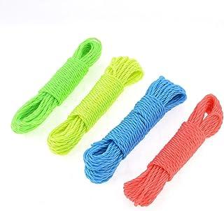 Sourcingmap Fil de Nylon Corde à Linge Fil à Linge étendoir 9,5M Long 4 pièces