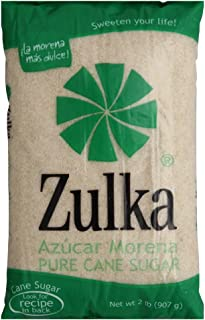 Zulka Pure Cane Sugar (Azucar Morena), 2 Pound Bag