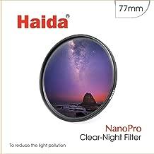Haida 77mm Clear-Night Filter NanoPro MC Light Pollution Reduction for Sky / Star 77