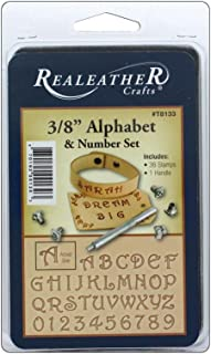"""Realeather 3/8"""" Alphabet and Number Stamp Tool Set, Multicolor"""