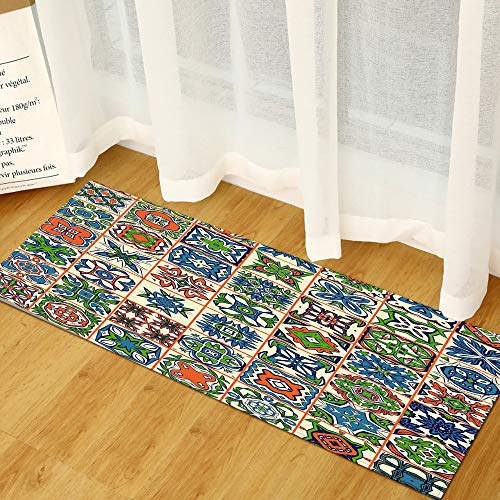 DREAMING-Ethnic Style Carpet, Long Strip Mat, Kitchen And Bathroom Non-Slip Mat, Floor Mat, Door Mat, Household Carpet 40 * 120cm
