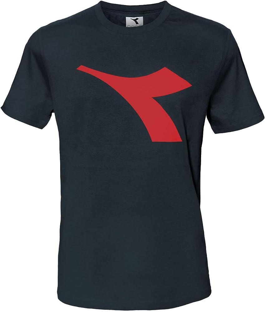 Diadora t-shirt , maglietta a maniche corte per  uomo , con logo in risalto , 90% cotone, 10% viscosa DiadoraTShirt177173_1_3