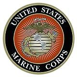 Crazy Sticker Guy Round Magnet - USMC Marine Corp, Semper Fidelis, Military - Cars, Trucks, SUVs, Refrigerators, Etc.