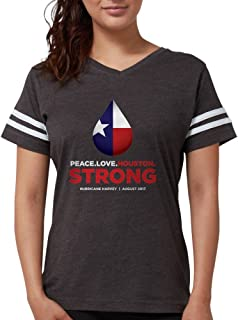 CafePress - Peace Love Houston Strong - Womens Football Shirt