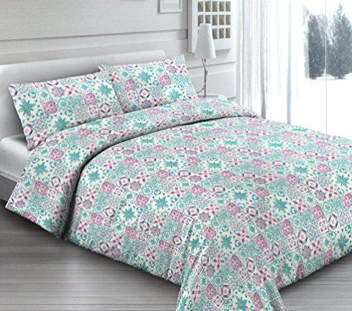 Housse de couette avec taie d'oreiller simple – Douce dormir rose – Sac couette idée cadeau Produit italien – Fabriqué en Italie
