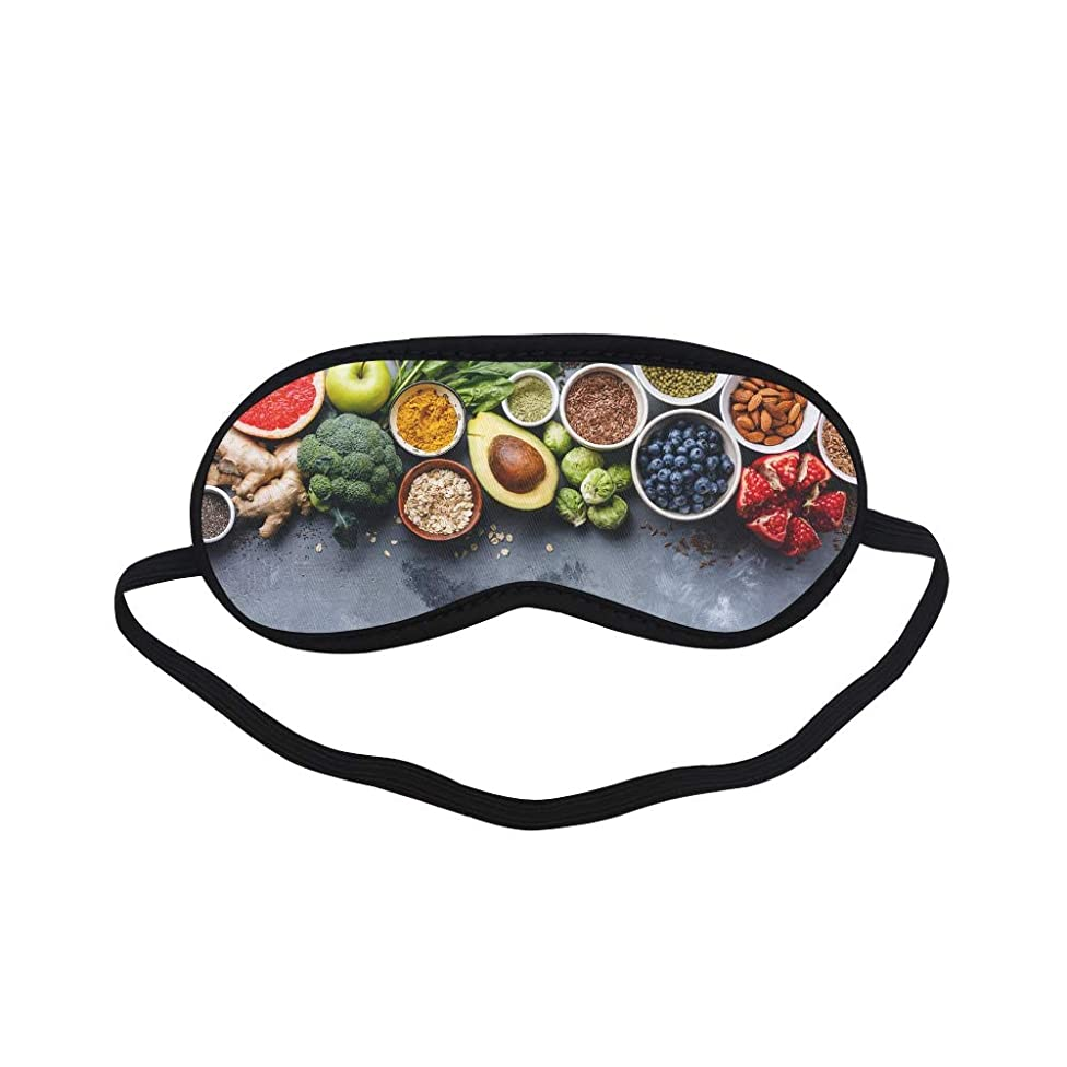 All Polyester Food Temptation Creative Photography Photos Sleeping Eye Masks&Blindfold by Simple Health with Elastic Strap&Headband for Adult Girls Kids and for Home Travel