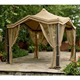 Garden Winds Peaked Top Gazebo Replacement Canopy Top Cover - RipLock 350