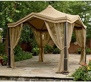 Peaked Top Gazebo Replacement Canopy and Netting - RipLock 350