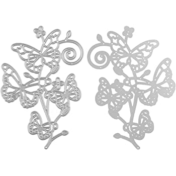 ZbFwmx Butterfly Flower Metal Cutting Dies Stencils for Scrapbooking Album Decorative Embossing Folder Paper Cards DIY