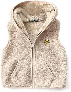 FEOYA Chaleco de forro polar con capucha para niños, chaleco sin mangas, chaleco para niños y niñas, transpirable, ropa de...