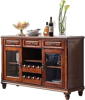 BGROESTWB Cabinetétage Armoire de Rangement Table de Table de Table en Bois de Table Buffet Server Table à Manger avec 3 a...