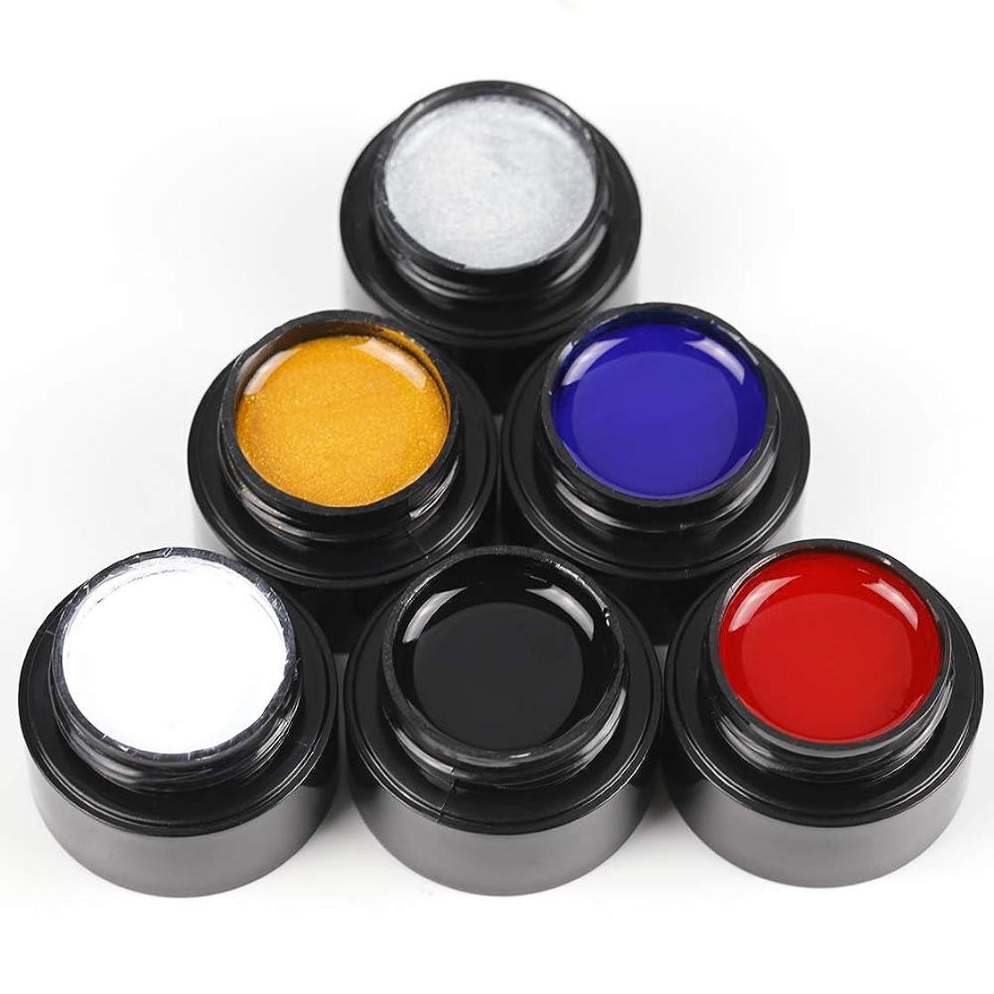 カプラーくしゃみ弁護人Twinkle Store ライナージェル 5ml 6ボトルセット 6色入り カラージェル ジェルネイルカラー UV/LED 适用 ネイルアートジェル