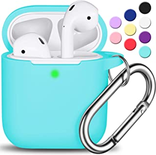 AirPods Case Cover with Keychain, Full Protective Silicone AirPods Accessories Skin Cover..