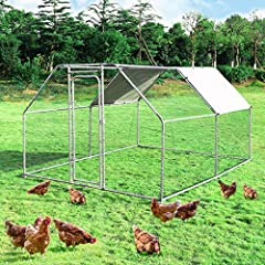 🐣 Durable Steel Construction --- Manufactured with high quality steel frame, the coop is solid enough for your chicken to have free space in it. And it is not easy to damage, which can prolong a long-term service time. The quick-connect frame allows ...