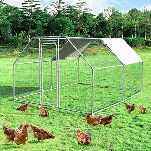 Giantex Large Metal Chicken Coop Walk-in Chicken...