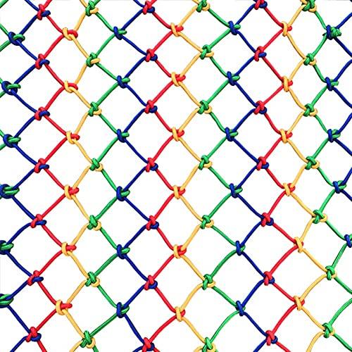 MAGFYLYDL Red De Cuerda De Nylon De Color para Balcón De Escalera Cuerda De Patio 6 Mm / 0.24 En Gruesa, Malla 8 Cm / 3.15 En(Size:1 * 2M(3.3 * 6.6FT))