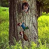 Hanging GNOME Garden Statue - Gartenzwerge wetterfest Garten GNOME Statue, GnomeBaum Fensterharz Garten Figuren, Baum Huggers Garden Decor Wunderliche Baum Skulptur Garten Dekoration (Tree)