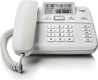 Gigaset 集怡嘉 原西门子电话机DA260办公电话家用座机有绳固定电话黑名单功能/来电显示/双接口/免电池(白)(亚马逊自营商品, 由供应商配送)