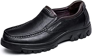 Oxford Shoes For Men Formal Shoes Slip On Style OX Leather Simple Pure Color Outsole Low Top` Tussy (Color : Black, Size : 49 EU)