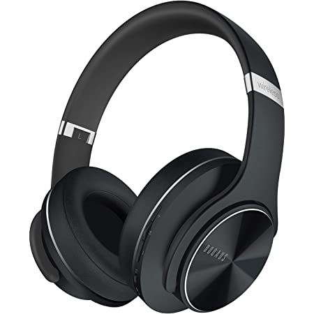DOQAUS Bluetooth Headphones Over Ear, [52 Hrs Playtime] Wireless Headphones, 3 EQ Modes, Foldable Hi-Fi Stereo Bass Headphones, Soft Memory Protein Earmuffs, Built-in Mic & Wired Mode for Phone/PC/TV