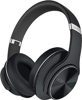 Cuffie Bluetooth, DOQAUS C1 Cuffie Wireless Bluetooth, 3 EQ Modalita di Suono, Cuffie con tempo di riproduzione di 52 ore, Comode Cuffie Over Ear con Microfono per Corso Online TV Cellullari PC